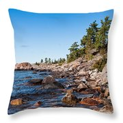 North Shore Of Lake Superior Throw Pillow