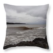 North Shore Wave Throw Pillow