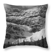 1m3536-bw-north Side Crowfoot Mountain  Throw Pillow