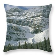 1m3536-north Side Of Crowfoot Mountain Throw Pillow