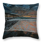 North Side Of The Ventura Pier Throw Pillow