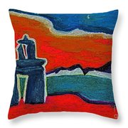 North Story Inukshuk By Jrr Throw Pillow