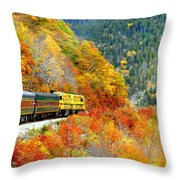 North To Crawford Notch Throw Pillow
