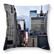 North Up Seventh Avenue Throw Pillow