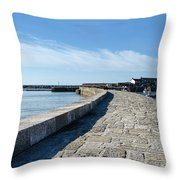 North Wall - Lyme Regis Harbour 2 Throw Pillow