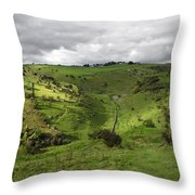 North West - Along Cressbrook Dale Throw Pillow