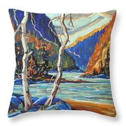 North West Lake By Prankearts Throw Pillow