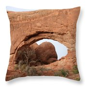 North Window  Arches Park Throw Pillow
