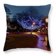 North Yorkshire Lights Throw Pillow