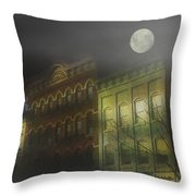 Northampton By Moonlight Throw Pillow