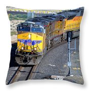 Northbound From Roseville At The Crooked Bridge Throw Pillow