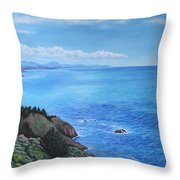 Northern California Coastline Throw Pillow