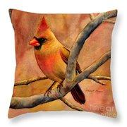 Northern Cardinal II Throw Pillow