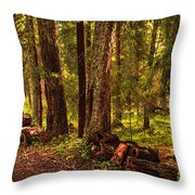 Northern Forest  Throw Pillow