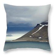 Northern Island In Svalbard Throw Pillow
