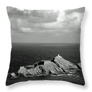Northern Lighthouse Throw Pillow