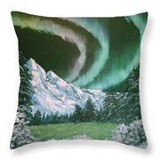 Northern Lights - Alaska Throw Pillow