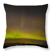 Northern Lights And Myriad Of Stars Throw Pillow