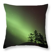 Northern Lights Disappear Throw Pillow