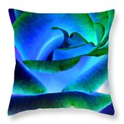 Northern Lights Rose Throw Pillow