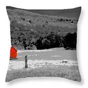 Northern Michigan Farm Sc Throw Pillow