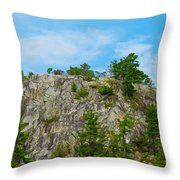 Northern Ontario Rock Face Throw Pillow