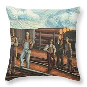 Northern Pacific Railway Throw Pillow
