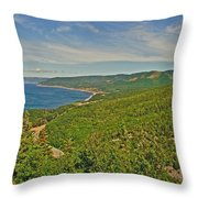 Northern Road Through Cape Breton Highlands Np-ns Throw Pillow