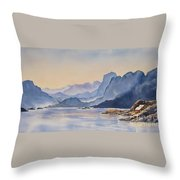 Northern_norway Throw Pillow