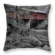 Northfield Falls Bridge Throw Pillow