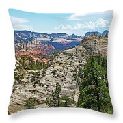 Northgate Peaks Trail From Kolob Terrace Road In Zion National Park-utah Throw Pillow