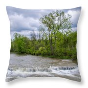 Northrup Road Waterfalls 2158 Throw Pillow