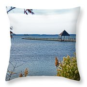 Northside Park Fishing Pier Throw Pillow
