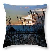 Ocean City Sunset At Northside Park Throw Pillow