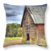 Northwest Barn Throw Pillow by Jean Noren