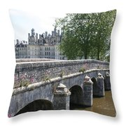 Northwest Facade Of The Chateau De Chambord Throw Pillow