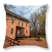 Northwest Indiana Grist Mill Throw Pillow by Paul Velgos
