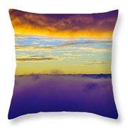 Northwest Sunrise Cloudscape Throw Pillow