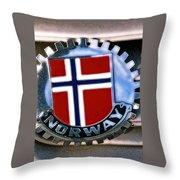 Norway Car Emblem Throw Pillow