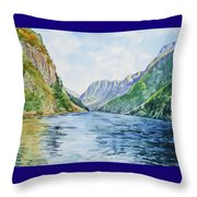 Norway Fjord Throw Pillow