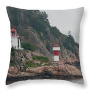 Norway Lighthouse 2 Throw Pillow