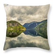 Norway Serenity In Panorama Throw Pillow