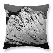 Norwegian Arctic Mountains Throw Pillow