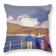 Painted Effect - Norwegian Coastline Throw Pillow by Susan Leonard