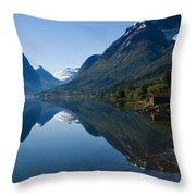 Norwegian Cottages Throw Pillow