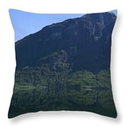 Norwegian Countryside Panorama Throw Pillow