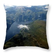 Norwegian Fjord From On High Throw Pillow