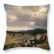 Norwegian Highlands Throw Pillow