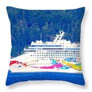 Norwegian Jewel Cruise Ship Throw Pillow
