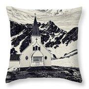 Norwegian Lutheran Church Grytviken Throw Pillow